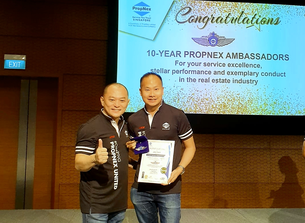 Propnex 10 Years Ambassador Award
